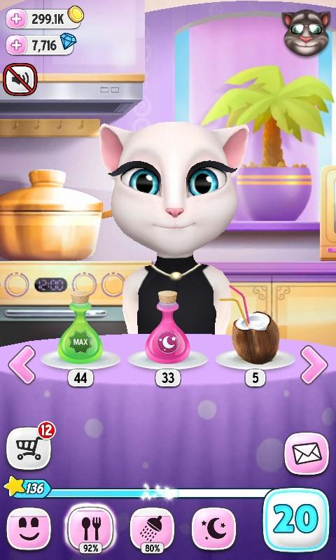 Играть бесплатно говорящий кот анжела